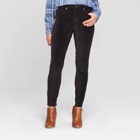 Women's High-Rise Velvet Skinny Jeans - Universal Thread - Black - NWT