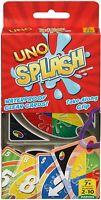 Mattel Uno Salpicadura Impermeable Familia Diversión Clásico Juego de Cartas Set