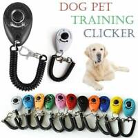 Dog Training Clicker Click Button Trainer Pet Cat Puppy Obedience Aid Wrist US