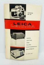 Original 1961 LEICA Cameras & Accessories Catalog