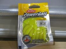 "Berkley Powerbait 3"" Power Grub PBHPG3-YE yellow NIP"