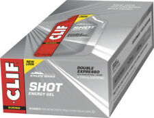 Clif Shot Organic Energy Gel - Double Expresso with Caffeine 34g Pack of 24