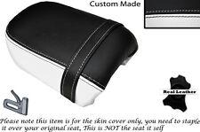 Blanco Y Negro Custom Fits Yamaha Virago Xv 250 Trasera de piel cubierta de asiento
