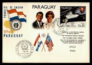 DR WHO 1981 PARAGUAY FDC SPACE REAGAN INAUGURATION S/S  C239019