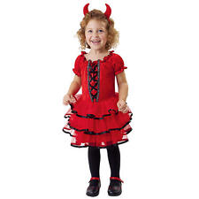 2-4 years girls red Frilly Lil' Devil Halloween Costume layered tutu dress