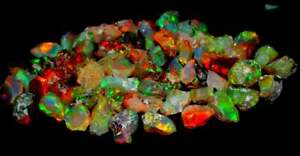 30.00 cts 100% Natural Play of Color Ethiopian FIRE Opal Rough LOT Gemstone-R02