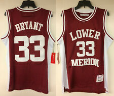 Kobe Bryant inferior Merion High School #33 auténtico bordado Baloncesto Camiseta
