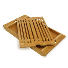 Brotschneidebrett Krümelfach herausnehmbar Bambus Brot Schneidebrett Gitter Holz