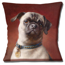 """NEW FAWN PUG DOG ADULT VINTAGE STYLE CARL REICHERT 16"""" Pillow Cushion Cover"""