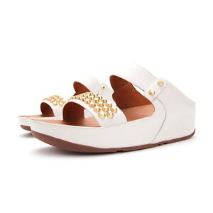FitFlop Amsterdam Studded Slide, Urban White, Women Size 10, $140