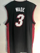 Adidas NBA Jersey Miami Heat Wade Black sz 2X