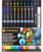 New! CHAMELEON Colour Tone Markers 22 Brush Pens Set + Case + Free Nibs MANGA