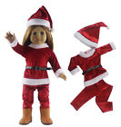 4in1 Doll Clothes FOR 18'' American Girl Christmas Xmas Costume Uniform Dress K1