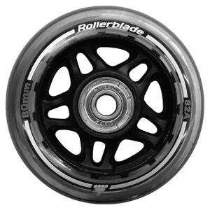 Rollerblade Wheel Kit 80mm/82A Wheels + SG7 Bearings | 8 Wheels | 06951100