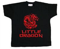 "Dirty Fingers Boy Girl T-Shirt ""Little Dragon"" Karate Kung Fu Bruce Lee"