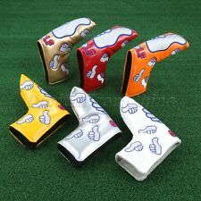 Golf Putter Head Cover Pu Leather Thumb Protector Club Head Covers Accessories