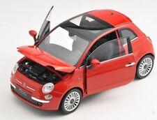 BLITZ VERSAND Fiat 500 2007 rot / red Welly Modell Auto 1:24 NEU & OVP  22514
