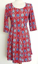 3/4 Sleeve Skater Short/Mini Floral Dresses for Women