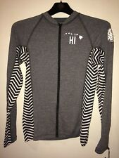 RIP CURL Paradise Hawaii Long Sleeve UV Surf Rashguard - Size XL GREY trestles