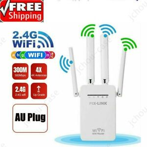 WiFi Repeater Extender Signal Booster 300Mbps AU Wireless Router Range Network