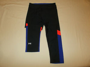 UNDER ARMOUR HEAT GEAR MULTI COLORED COMPRESSION CAPRI PANTS WOMENS SMALL EXC.