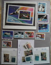 Canada  & world stamp lot thematic space shuttle holgrams and more collection