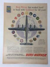 Original Life Magazine 1954 B-W Borg-Warner Lockheed for 40 Years Vintage Art