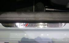 original Seat Cupra Logo Einstiegsleiste Schutzleiste Edelstahl Leon 5F Ibiza 6J