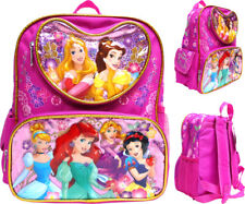 School Supplies 12 Inch Disney Princess Backpack for Toddler Girls Preschool Set Deluxe Disney Princess Mini Backpack with Stickers