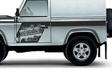 LAND ROVER DEFENDER 90  Aftermarket Mud Splash Tyre Adventure DECAL Sticker SET
