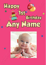 PERSONALISED PHOTO BIRTHDAY CARD ANY NAME/AGE 1st 2nd 3rd 4th 5th 6th DAUGHTER