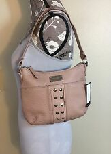 NINE WEST Hobo Style Tan Purse Silver Stud's Shoulder Handbag Purse NWT $59