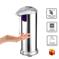 Automatic Hand Sensor Soap Dispenser Touchless Pump Kitchen Stainless Steel