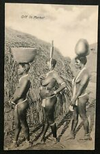 "postcard Africa Nude Naked Women Woman ""Off to Market"" to Belgium Afrique"