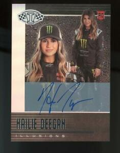 2020 Panini Chronicles Illusions #21 Hailie Deegan 14/25 Auto RC Rookie