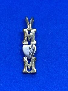 14K Yellow & White Gold M❤️M Charm or Pendant