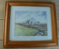 Watercolour landscape painting of  coal mine by John Suggett 2002
