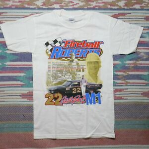 Fireball Roberts Shirt Adult Small White Story Of A Champion Nascar Racing Mens