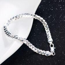 925 Silver Plated Bracelet 5MM Snake Chain Bangle Jewelry for Women Men Gift