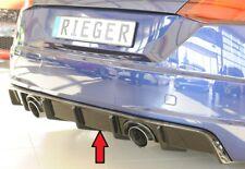 Rieger Heckeinsatz Diffusor passend für AUDI tt 8s S-line schwarz Glanz 00088156