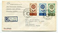 Cyprus 1964 EUROPA Issue - Registered FDC Cover to RCAF Military in France