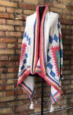 Ralph Lauren Southwestern Cowichan Open Front Tassel Cardigan Women S/M
