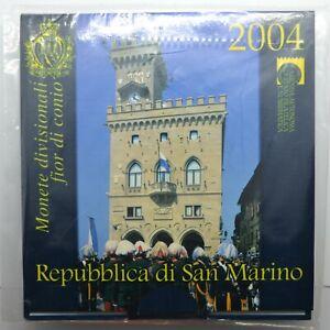 Coffret Série Euros 2004 BU / 9 pièces (dont 5 € argent) - Saint Marin (BLISTER)