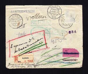 NETHERLANDS: 1940 Cover to DENMARK - MULTIPLE FORWRDS - CENSORED