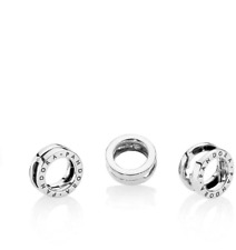 Pandora Sterling Silver Reflexions Logo Clip Charm 797598