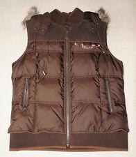NWOT Juicy Couture Brown Reversible Vest