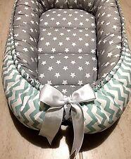 Gray Baby Nest Mint and Gray Babynest Newborn Sleep Snuggle Cocoon Crib Bed New