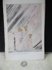 Vintage Print,JUST AS THEY BEAT DOWN,Nielsen,1914,East of Sun+West of Moon