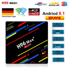 4GB/64GB H96 MAX Plus+ Android 8.1 Smart TV Box Quad Core USB3.0 2.4G/5G WIFI 4K