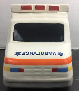Ceramic Ambulance Cookie Jar